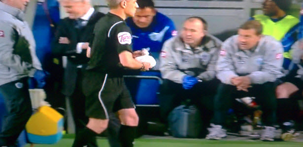 Linesman gets substituted