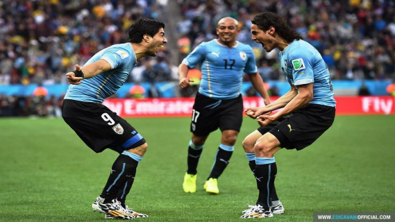 Luis Suarez and Cavani